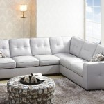 Abbyson Sienna Gray Leather Sectional Sofa Living Room Warehouse