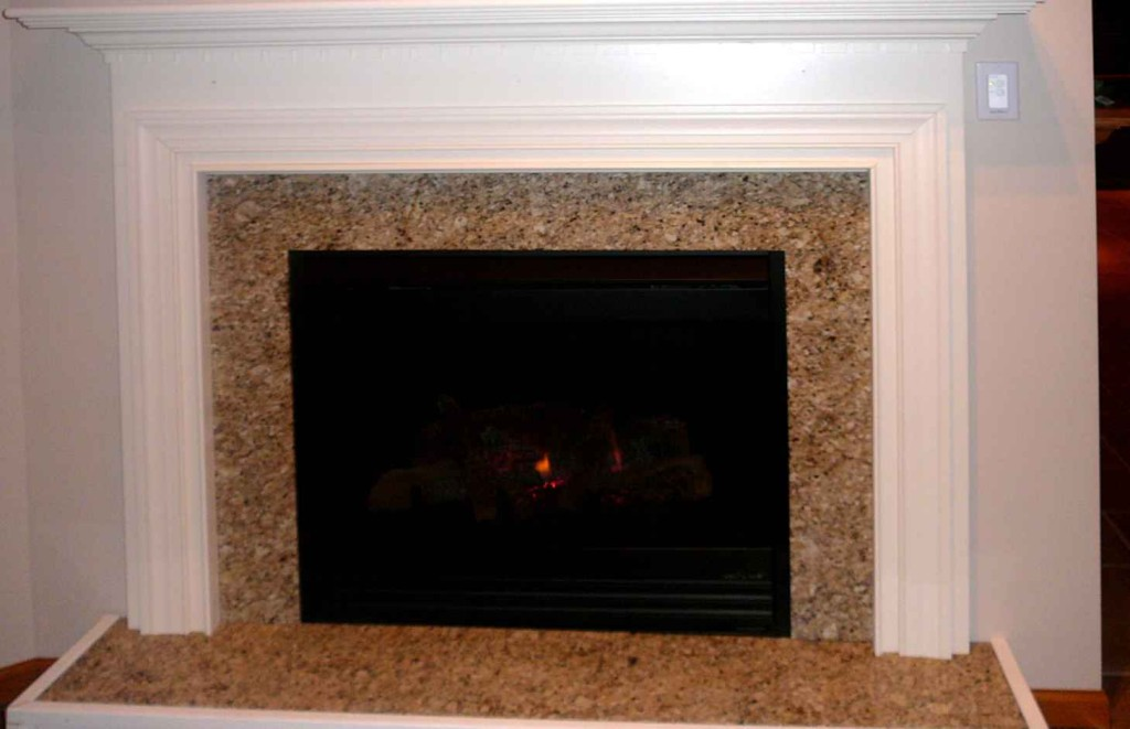 Actual Customer Finished Fireplace Facing