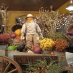 Added Just The Right Touch Fall Flowers Gourds And Crow