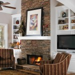 Adding Stone Mantle Fireplace Home Dreaming