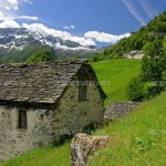 Aged Stone House Swiss Alps Could Live There
