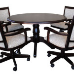 Alfa Dinettes Tobias Caster Chairs Round Table