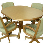 Alfa Dinettes Tobias Table Caster Chairs