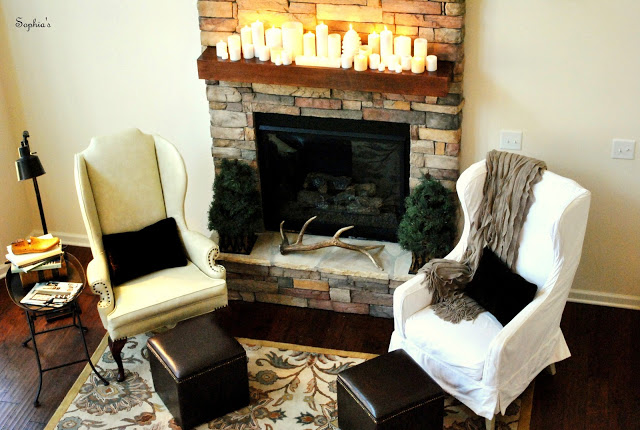 Also Had Design Around The Rustic Stone Fireplace That Came