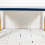 Alvar Aalto Tall Coffee Table Lacquered Blue Top Stdibs