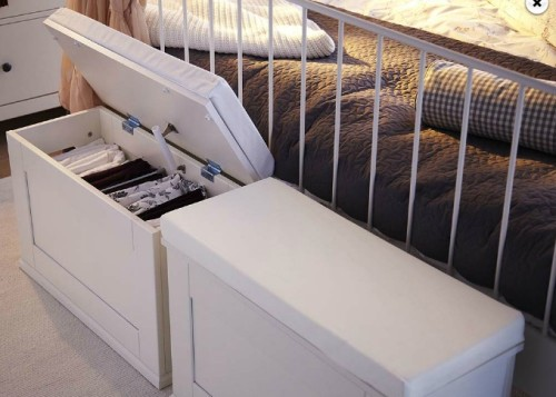 Alve Narrow Footstool Storage From Ikea Bedroom Ideas