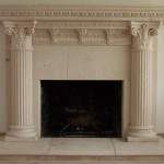 Ancient Fake Stone Mantel Surround Fireplace