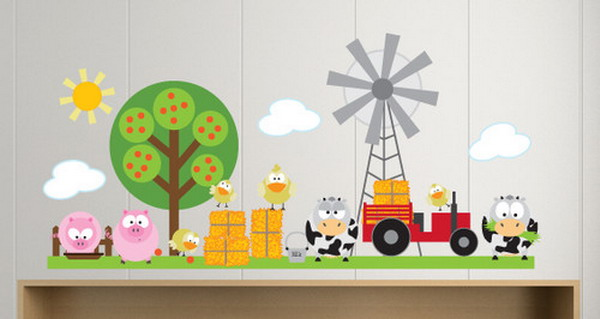 Animal Farming Wall Decals Creative Collections