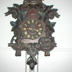 Antique Black Forest Cuckoo Clock Unusual Res Look Completed