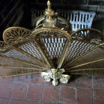 Antique Brass Peacock Fireplace Screen For Romantic Home Show