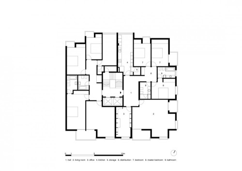 Apartment Floor Plan Architecture Design Zeospot