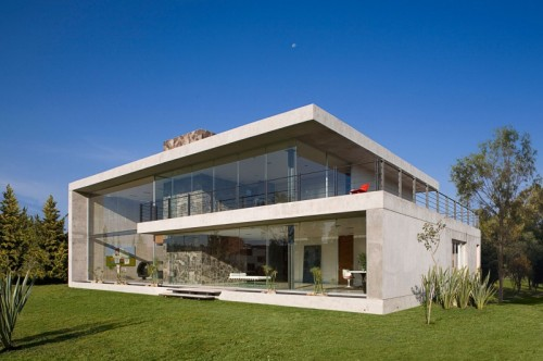 Architecture House Massive Concrete Glass Residence Mexico