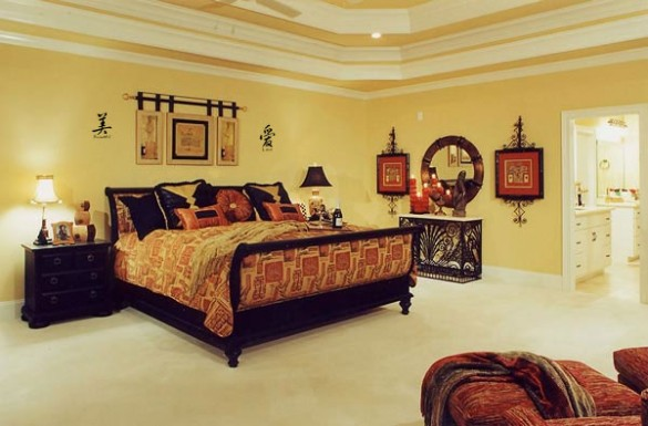 Asian Indian Style Decor Bedroom Design
