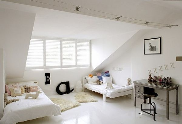 Attic Bedroom Idea Modern Cool Fancy Functional