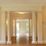 Award Winning Green Home Westport Living Room Columns