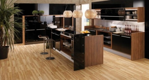 Awesome Modern Kitchens Wooden Finish