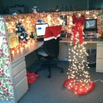 Awesome Office Decorating For Christmas Hosowo