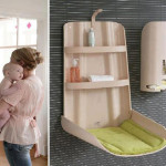 Baby Furniture From Bybo Space Saving Wall Mounted Changing