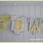 Baby Shower Banner Neutral Gender Pastel Poshpaperpartiesco