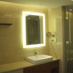 Backlit Mirror For The Bathroom Love This Salon Ideas