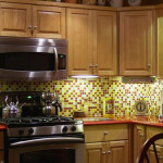 Backsplash Glass Tile Mosaic Modern Kitchen