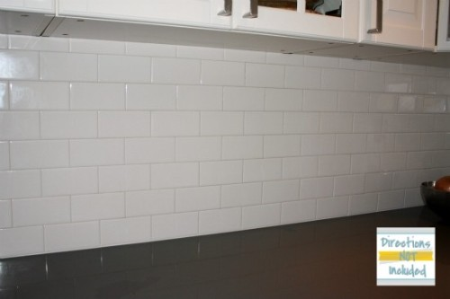 Backsplash Reveal Diy White Subway Tile For The Home