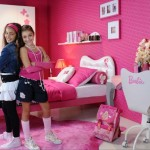Barbie Theme Pink Girls Bedroom Painting Color Ideas