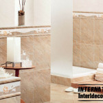 Bathroom Wall Tiles Design Beige Ceramic