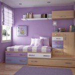 Beautiful Girl Room Design Purple Color And