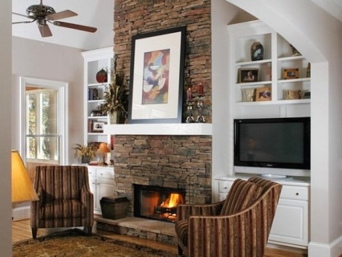 Beautiful Natural Stone Fireplace For The Home