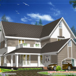Beautiful Sloping Roof House Design Plan Home Profesional