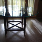 Beautiful Solid Wood Round Glass Top Dining Table Miami Usa