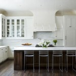 Beautiful White Kitchen Cabinets Brown Furniture Combination