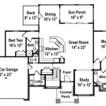 Bedroom Open Concept Ranch The Red Cottage Floor Plans Home Designs