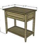 Bedside Table Console Can Build Make This