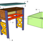 Bedside Table Plans Howtospecialist How Build Step Diy