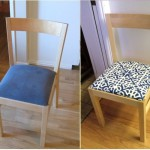Before After Took Old Ikea Chair Some New Canvas Fabric