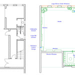Before And After Floor Plans Showing The Open Plan Interior Commercial