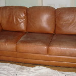 Before Cleaning Care Leather Sofa