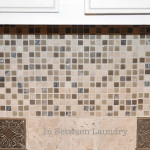 Between Laundry Tutorial How Install Mosaic Tile Backsplash