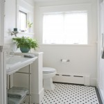 Black And White Traditional Bathroom Tile Pichomez