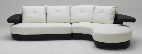 Black And White Ultra Modern Sectional Sofa Design