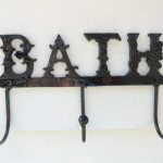 Black Bathroom Wall Hook Towel Cast Iron French Country