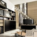 Black Brown Living Room Sets And Modern Stairs Accents Castlives