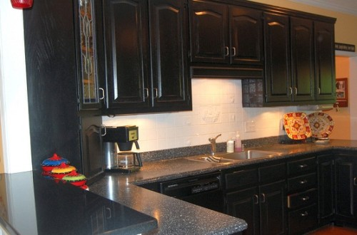 Black Kitchen Cabinets Inspiration Distressed