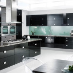 Black Room Cooking Area Display Sweet Design Hot Style