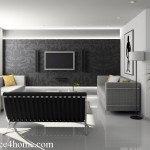 Black Wall Design Latest White Sofa Living Room