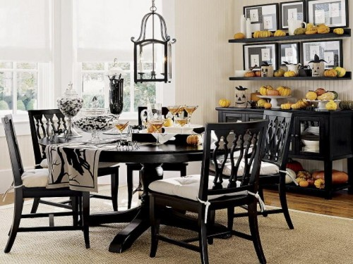 Black White Dining Tables Decoration Ideas