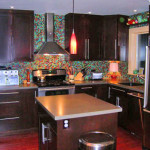 Blend Kitchen Backsplash Tiles Multi Colored Glass Mosaic Tile