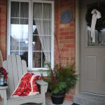 Blue Clear Sky Front Porch Canadiana Christmas Stop Four